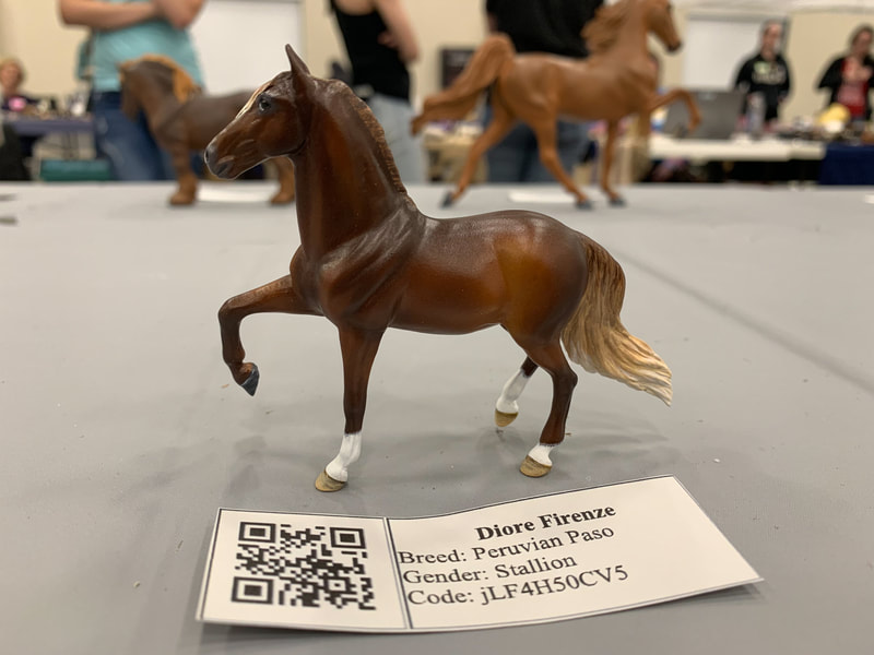 Breyer Stablemate CM Andalusian, now a Peruvian Paso at The Jennifer Show 2019