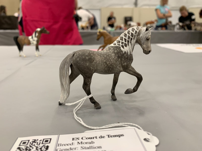 Breyer Stablemate Morgan custom by Melanie Miller at The Jennifer Show 2019.